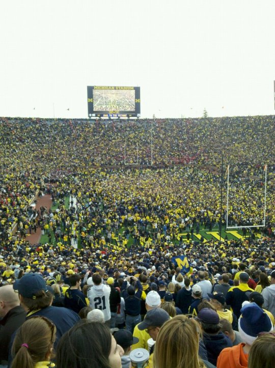 After beating Ohio State in 2011. :)